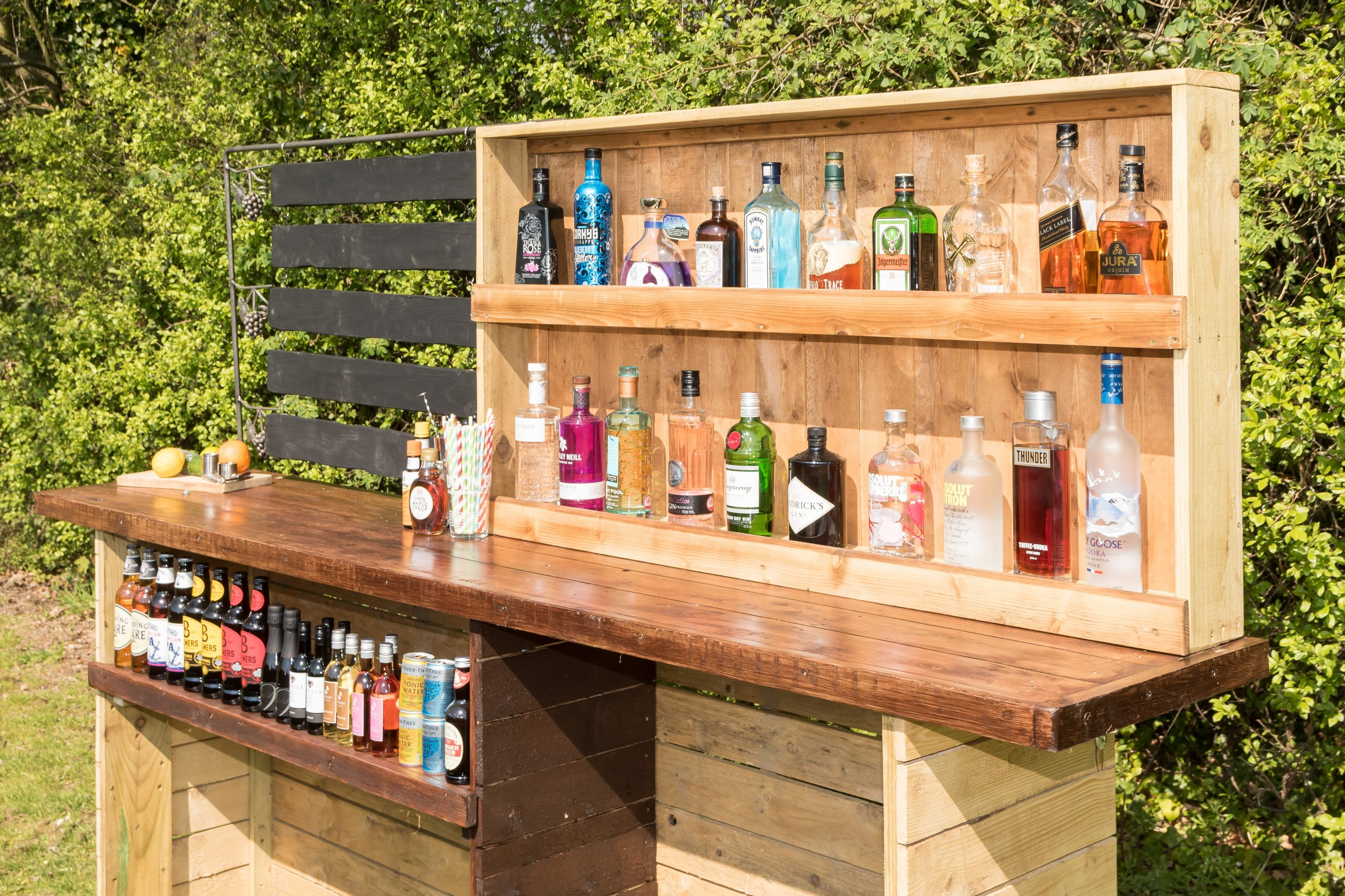 Wooden bar hire Surrey