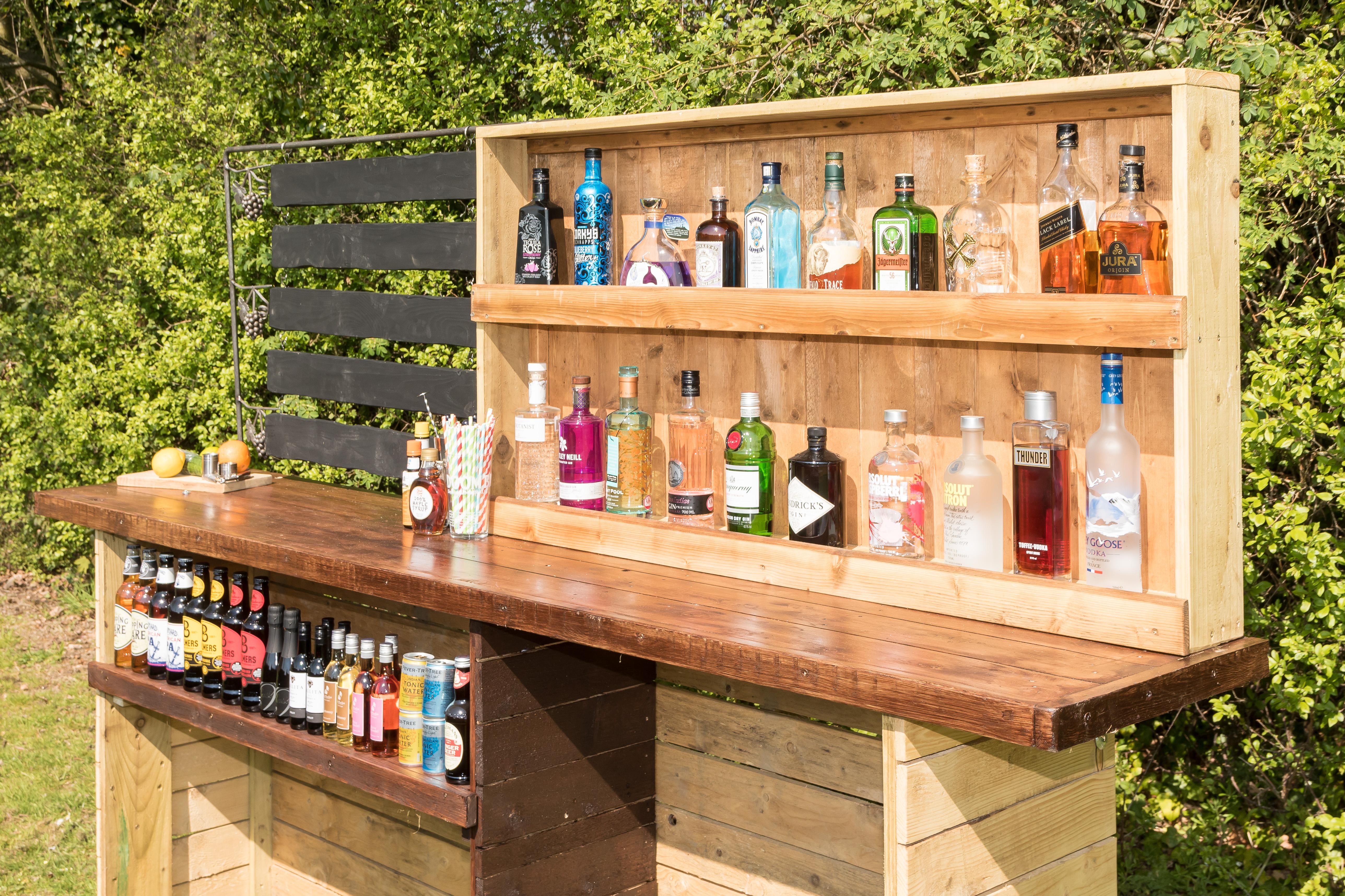 Wooden bar hire Surrey