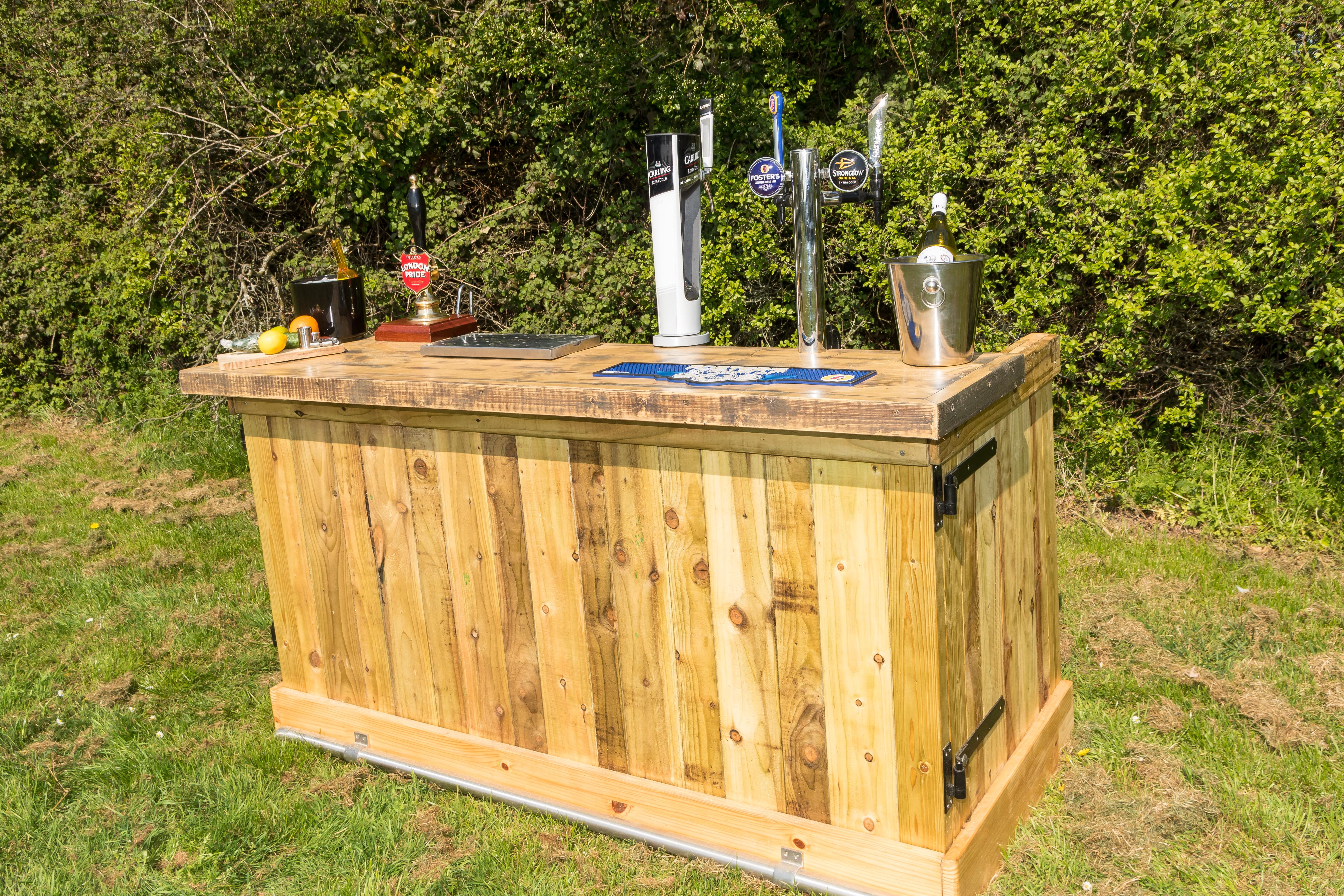Wooden bar hire in surrey