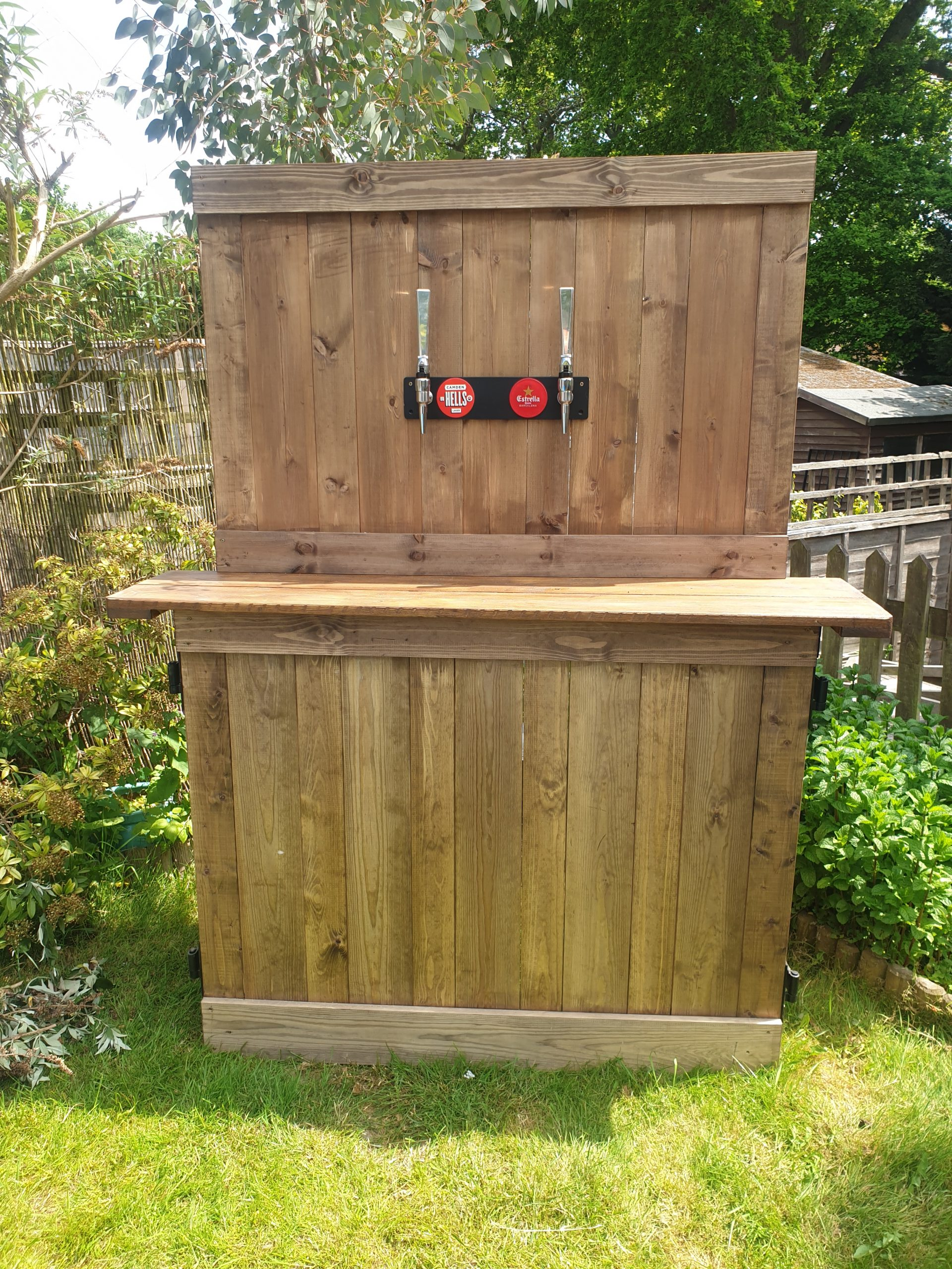 Mobile beer tap wall for hire
